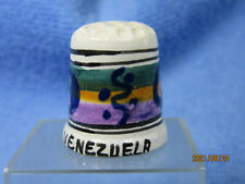 """Dé à coudre collection en céramique """"Venezuela"""" thimble/fingerhut"""