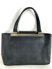 Michael Kors Black Saffiano Leather Structured Tote Purse Satchel Carryall Bag