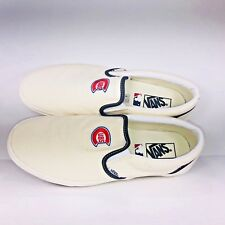 VANS Classic Slip On MLB Chicago Cubs Wool White Blue Shoes VN0A3UT7RTD Size 10