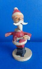"Vintage 3"" Wooden Santa Claus Nodder- Xmas Figure- Japan- Mid Century"
