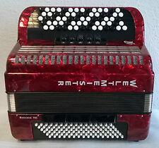 WELTMEISTER Romance 703 Knopf-Akkordeon rot B-Griff mit Koffer