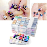 10 Pcs DIY Nail Decals Stickers Art Decor Tips Stamping Manicure Foils Wraps