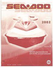 Sea-Doo Service Shop Manual 2002 GTX DI & GTX 4-TEC