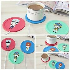 Red Electric USB Powered Cup Mug Warmer Coffee Drink Heater Beverage Cartoon
