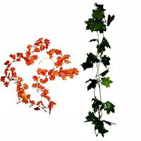 New 5x 2M Maple Leaves Leave Garland Artificial Leaf Vine Foliage Home Décor