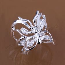 925 Sterling Silver Plated BUTTERFLY RING Thumb/ Wrap Ring. ADJUSTABLE. Gift