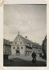 PHOTO ANCIENNE - VINTAGE SNAPSHOT - OBERNAI ALSACE NID CIGOGNE VÉLO 1932