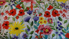 1/2 METRE CLOTHWORKS SPRING MEADOW FLORAL 100% COTTON QUILT/CRAFT FABRIC
