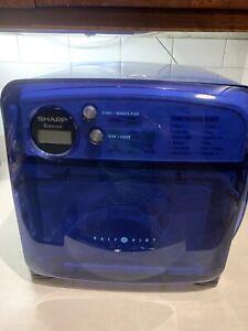Vintage Sharp Carousel Half Pint Microwave R-120DB Blue RV Camper - READ!