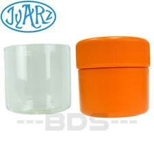 Orange Jyarz Satchmo Storage Container Glass BPA Free USA -Made 2.5x2.5 Herb Jar