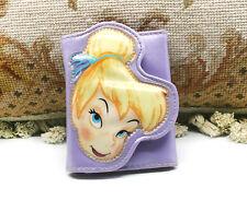 Girl'S Disney Lavender Tinker Bell Tri-Fold Velcro Wallet
