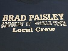 Brad Paisley Crushin' It World Tour Local Crew T-shirt Size XL