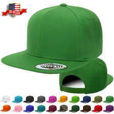 Snapback Hat Classic Hip Hop Style Flat Brim Baseball Cap Solid Color Blank Hats