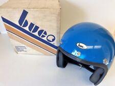 NOS Vintage Retro Buco Fiberglass Blue Motorcycle Bike Harley Helmet ASE 1977