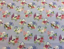 Lewis And Irene - Grandma's Garden Col:3 D#A198 - 100% Cotton By 1/4 Metre