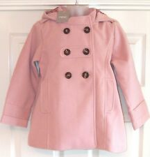 BNWT NEXT GIRLS PINK SMART WINTER DRESS COAT 5-6 YRS NEW PARTY CHRISTMAS JACKET