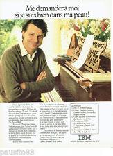 PUBLICITE ADVERTISING 086  1981  Hubert Arnaud  ingénieur  IBM  France