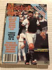 1984 Baseball Digest BALTIMORE ORIOLES Rick DEMPSEY No Label NEWSST World Series