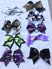 9X3� Professional Cheer Bow Flyer Sequin Nca Silver Gold BlackPurple Sequin Cow