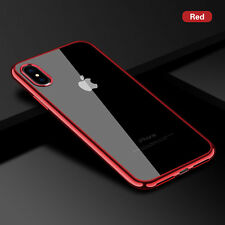 Clear Soft Silicone TPU Skin Phone Case Cover For iPhone XS X 5 6 6s 7 8 Plus