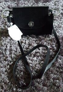 BNWT New Look Black Faux Suede Shoulder Bag