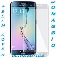 Pellicola in Vetro Temperato Curvo per Samsung Galaxy S6 Edge PROTEZIONE AL 100%