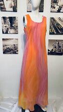 Vintage Mary McFadden Multi-shimmer Summer Evening Dress 14