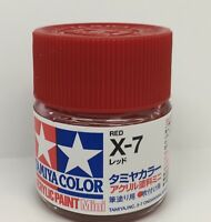 Tamiya Acrylic Mini X-7 Red - 10ml Bottle Item 81507 -s7169
