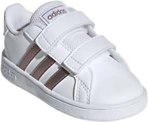 Adidas Toddler Girl's Grand Court [ White ] Fashion Sneakers - EF0116