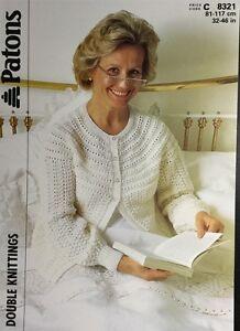 "Patons DK Knitting Pattern, Women's Bed Jacket  Size 32/46"""
