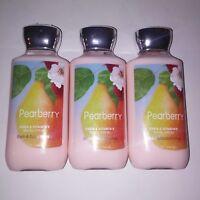 Set of 3 Bath & Body Works Pearberry Lotion Shea Vitamin E Full Size