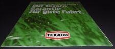reklame  blatt alt texaco benzin blei gesetz kraftstoff 1976 werbung top deko