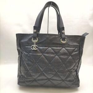 CHANEL Tote Bag ParisBiarritz Black Leather 1411499