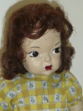 "16"" Vintage Early Antique Terri Lee Pat. Pending Original Auburn Mannequin Wig"