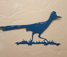 Roadrunner satin lagoon metal bird wildlife southwestern wall art decor