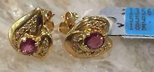 18K Yellow Gold .54ct Rubies .14ct Diamonds Retails $559 #1356