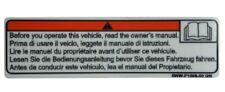 YAMAHA INFO MANUAL MOTORCYCLE WARNING SERVICE TANK BADGE STICKER  RACING BIKE