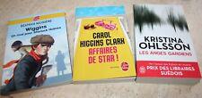 Lot de 9 livres  policiers / Thriller, ...