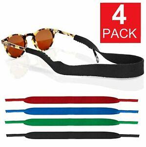 4-Pack Sports Sunglasses Neck Cord Strap Eyeglass Glasses String Lanyard Holder