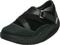 MBT Women's 10  RAHA W Black Nubuck Leather TONING Exercise Walking Rocker