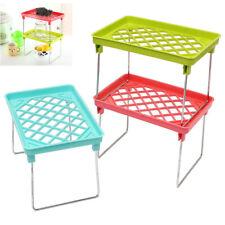 New Foldable Stacking Storage-Shelf Rack Organizer Holder Kitchen Bathroo JYP