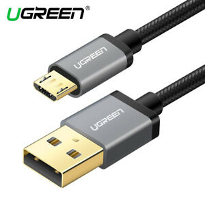 Ugreen Micro USB Braided Cable Fast Charge Data Black Grey Silver. 0.25m - 3m