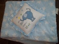 New ListingLn Messages From the Heart Stars Crib Comforter/Blanket & Baby Decor Pillow Set