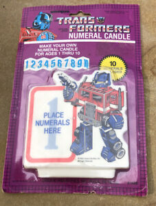 Vintage TransFormers Numeral Birthday Candle - 1984 Unique Industries
