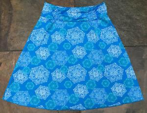 Colorado Clothing Small Blue Celtic Design Tranquility Stretch Skirt EUC B