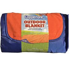 "Beach Outdoor Blanket Coppertone Fleece Water Resistant Backing Large 59"" X 50"""