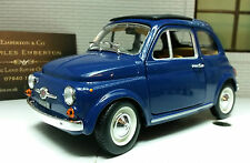 LGB G Scala 1:24 Fiat 500 1965 Blu Molto Dettagliato Burago Automodello Metallo
