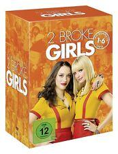 TWO 2 BROKE GIRLS 1-6 DIE KOMPLETTE STAFFEL 1 2 3 4 5 6 DVD DEUTSCH