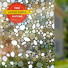 3D Static Cling Film Privacy Window Film Frosted Mirror Decorative Stained Glass