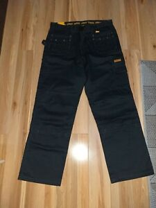 DeWalt Work Site Trousers Holster with Knee Pad Pockets Leg 32 Waist 38